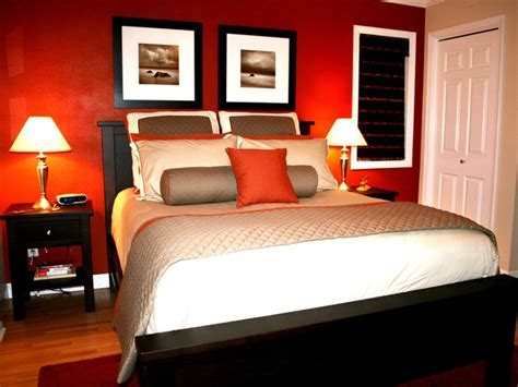 I Love The Color In This Bedroom The Bold Red Accent Wall