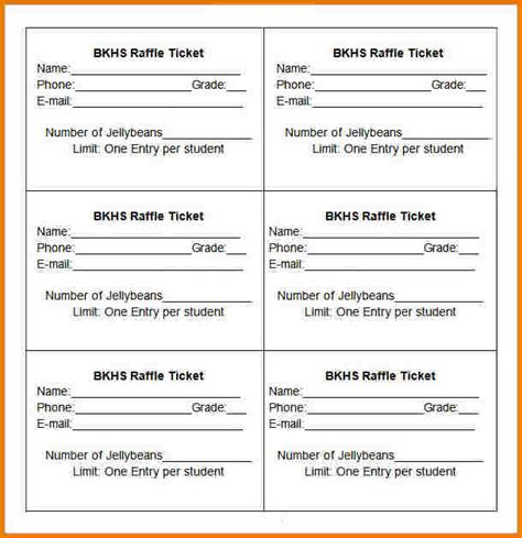 raffle ticket template authorization letter