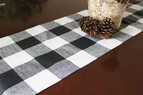 black and white table runners buffalo check table runner table cloth table square black