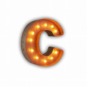 rusty 12 inch letter c marquee light by vintage marquee lights With 12 marquee letters
