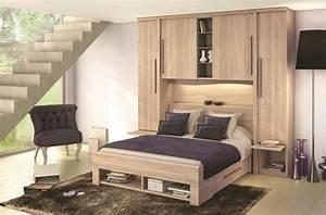 Chambre A Coucher Conforama : lit pont 2 personnes pluriel meubles celio occasion ~ Melissatoandfro.com Idées de Décoration