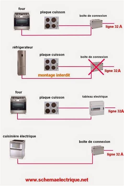 norme electrique cuisine schema electrique branchement cablage