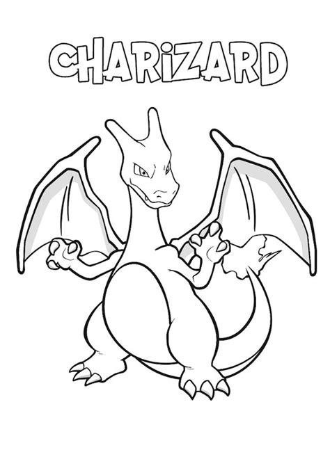 immagini di pokémon da disegnare charizard da colorare