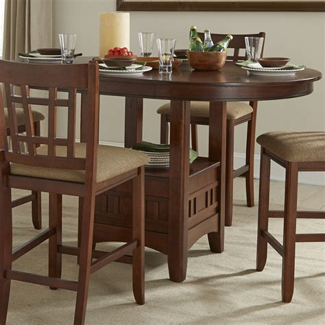 intercon mission casuals pedestal gathering table