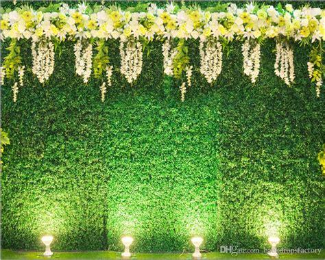 digital printed green leaves wall backdrop