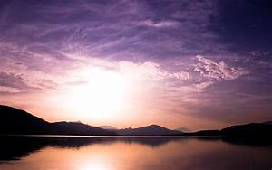 Sunset Over Lake Wallpapers