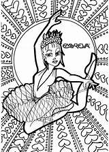 Dance Printable Coloring Pages Dancer Dancing Getcolorings Ballet Getcoloringpages Getdrawings Square sketch template