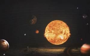 Wallpaper Solar System, Sun, Planets, Astronaut, HD, Space ...