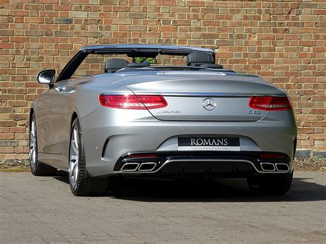 Amg s 63 4dr sedan awd (5.5l 8cyl turbo 7a), and amg s 63 2dr convertible awd (5.5l 8cyl turbo 7a). 2017 Used Mercedes-Benz S63 AMG Cabriolet   Designo Magno Alanite Grey