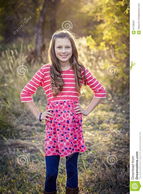 Beautiful Teen Girl Portrait Outdoors Stock Image 61726537