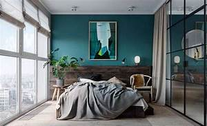 Déco Chambre Bleu Canard : chambre bleu canard lumineuse super d co ~ Melissatoandfro.com Idées de Décoration