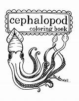 Coloring Pages Squid Etsy Printable Cephalopod Cuttlefish Octopus Squids Books Items Esty Sewing Mollusc Stuff Hand Similar Ocean sketch template