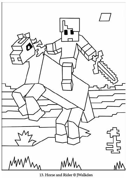 Minecraft Coloring Horse Printable Sheets Cool Colouring