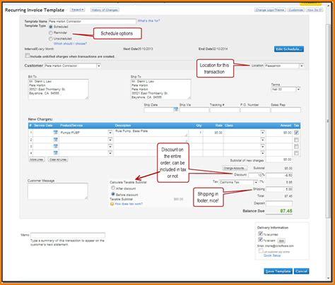 quickbooks invoice templates invoice template ideas