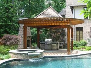 inspiring outdoor kitchen designs get the perfect ideas With backyard designs with pool and outdoor kitchen