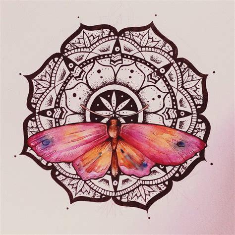 mandala butterfly watercolor  elenoosh ideas
