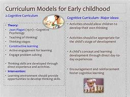 Different types of early childhood curriculum