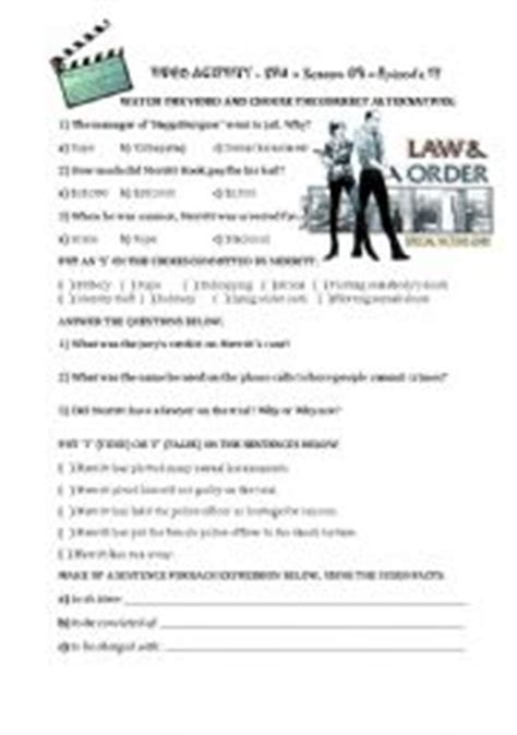 english teaching worksheets law  justice