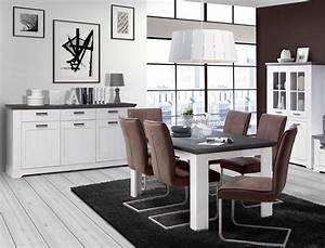 Esszimmer Weiß Grau : wohnzimmer gaston 52 wei grau beleuchtung 6 teilig schneeeiche wohnbereiche esszimmer esszimmer ~ Markanthonyermac.com Haus und Dekorationen