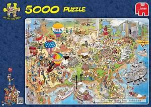 5000 pcs jigsaw puzzle jan van haasteren usa cartoon With tapis puzzle 5000 pieces