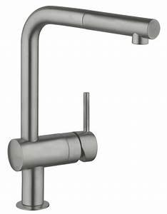 Grohe Minta Supersteel : grohe minta monobloc supersteel sink mixer tap with pull out spout ~ Watch28wear.com Haus und Dekorationen