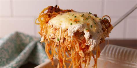 lasagna spaghetti recipe recipes delish cooking spagetti