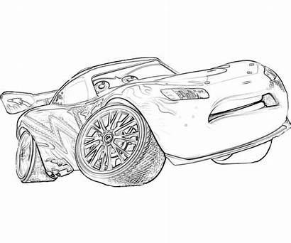 Coloring Mcqueen Lightning Pages Printable Cars Colouring