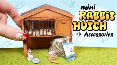 miniature rabbit hutch accessories tutorial diy bunny