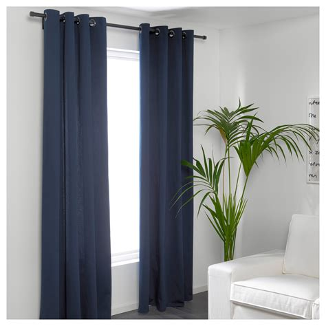 ikea merete brown curtains merete curtains 1 pair blue 145x250 cm ikea
