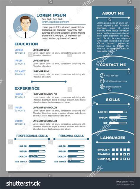 resume cv vector template nice creative stock vector