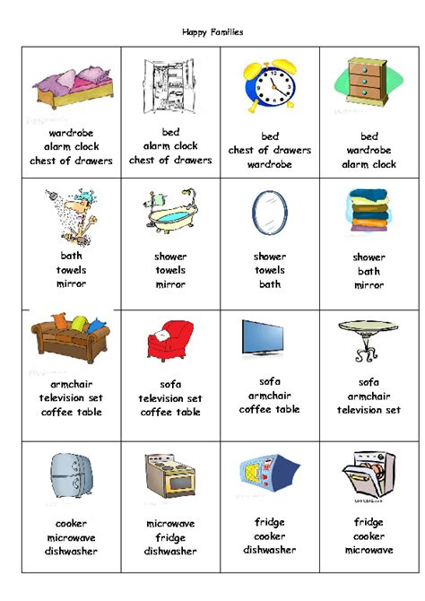 Bedroom Furniture Vocabulary