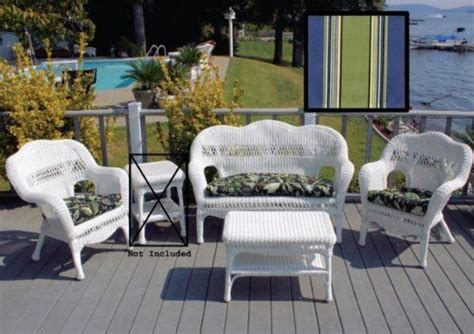 white patio set hton bay summer cushions