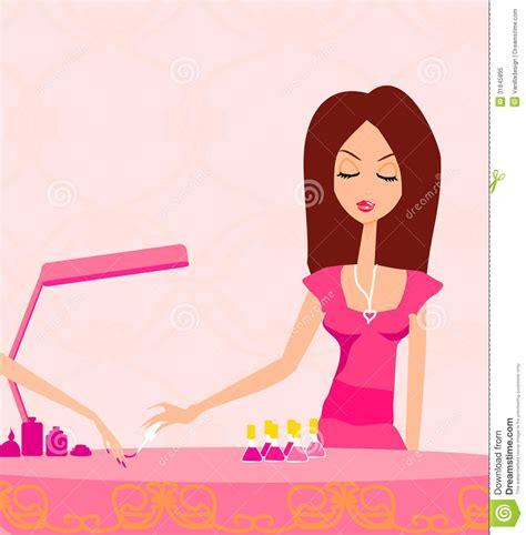 girl  manicure  beauty salon royalty  stock