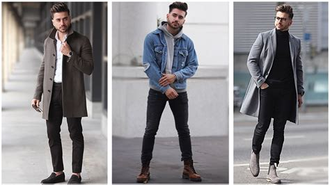 MENu0026#39;S FASHION INSPIRATION | WINTER LOOKBOOK 2018 | 3 Easy Outfits for Men - YouTube
