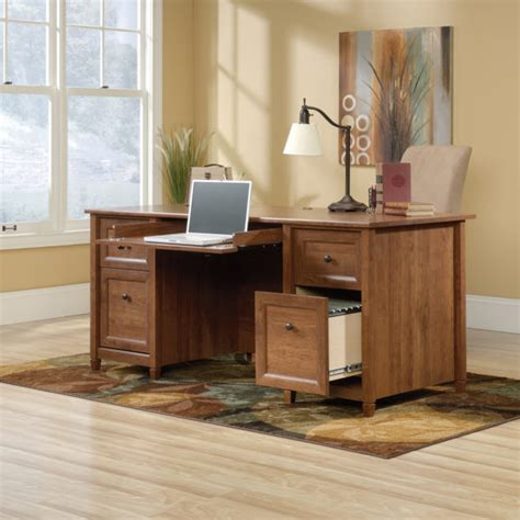 Sauder Edgewater Collection Executive Desk by Sauder 419100 Edge Water Executive Desk The Furniture Co