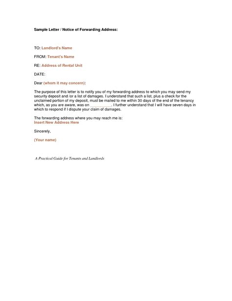 sle letter to landlord moving out moving out letter to landlord sle letter to tenant to