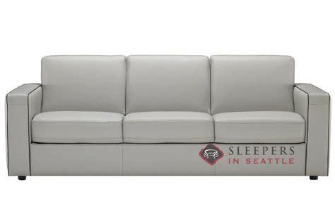natuzzi editions rubicon  leather queen sleeper sofa
