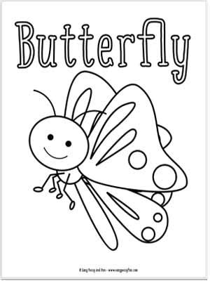 bugs coloring pages for easy peasy and 391 | Butterfly Coloring Page