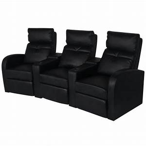 Kino Sofa 3 Sitzer : der kunstleder heimkino sessel relaxsessel sofa 3 sitzer schwarz online shop ~ Frokenaadalensverden.com Haus und Dekorationen