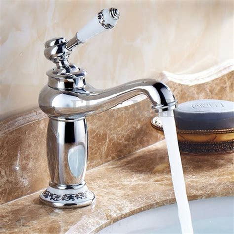 antique brass single ceramic handle valve core bathroom