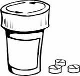 Bottle Pills Clip Svg Clipart Clker sketch template
