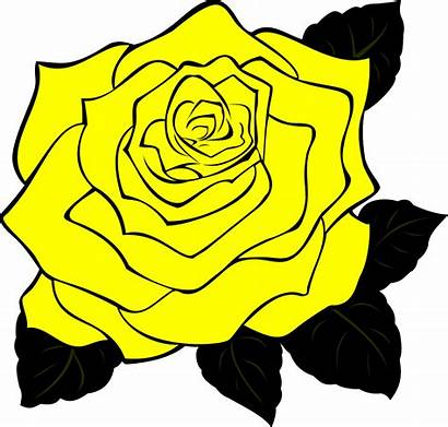 Rose Yellow Clip Clipart Roses Vector Cartoon