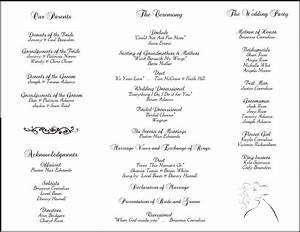 printable wedding programs on pinterest free printable With sample wedding ceremony program
