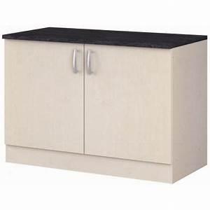 meuble bas cuisine 120 cm pas cher kirafes With meuble bas cuisine 120 cm pas cher