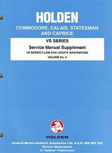 Holden Commodore Vs Series 2 Factory Workshop Manual