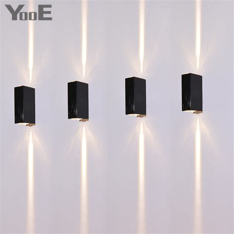 yooe indoor outdoor led wall l 2w bedroom water proof wall sconce rays lighting cold white
