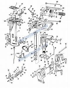 Johnson Lower Unit Group Parts For 1961 10hp Qd