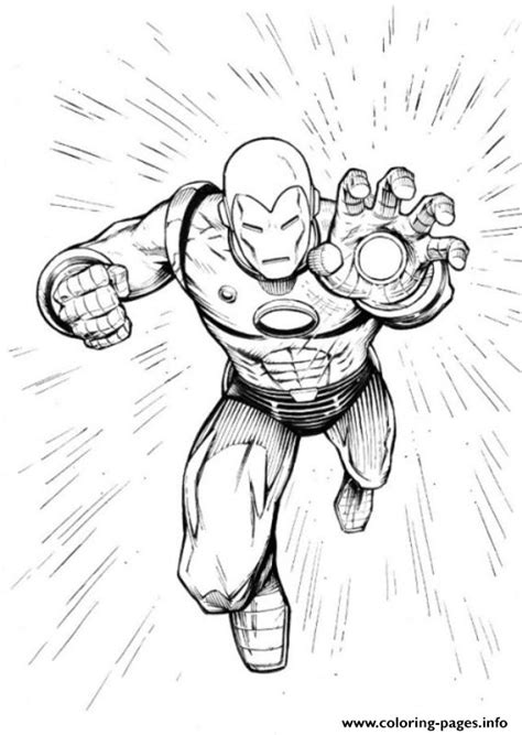 fighting iron man dc coloring pages printable