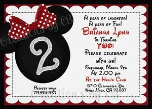 Minnie Mouse Birthday Invitation Minnie Mouse Birthday