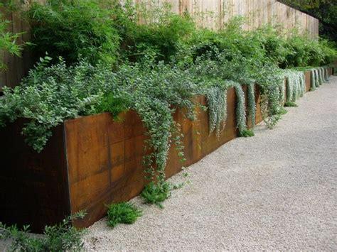 corten retaining wall concrete and corten retaining wall garden design retaining walls pinterest gardens
